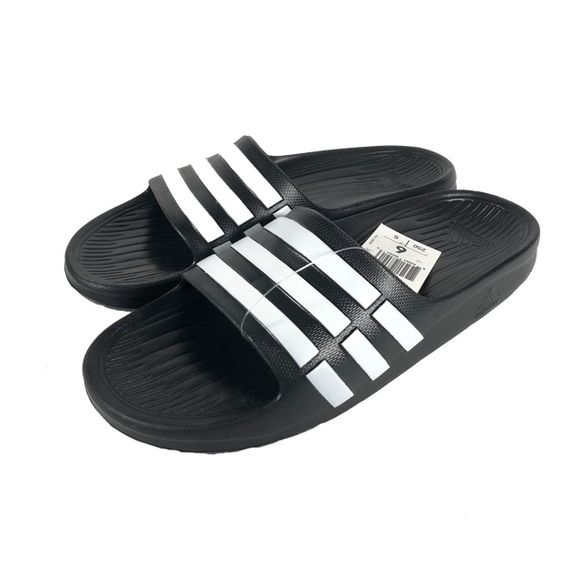 Adidas Youth Originals Duramo Slide Sandal Black NWT